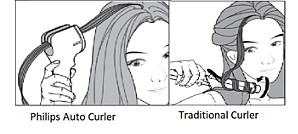 Holding Philips Curlers correcting