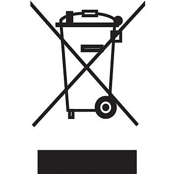 Symbol der durchgestrichenen Mülltonne