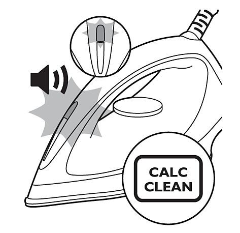Piloto de Calc-Clean: plancha de vapor Philips