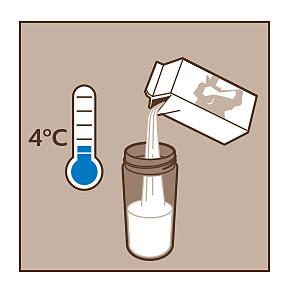 Xelsis, lait, température, mousse