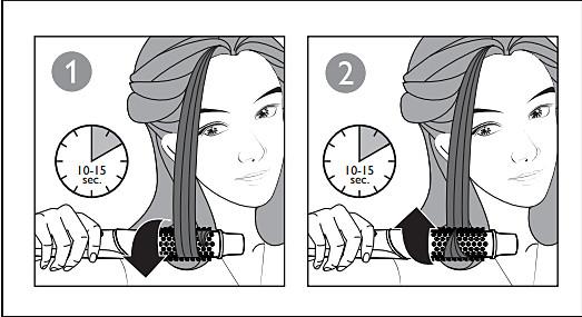 Correct way of using the Philips Multistyler Hot Brush