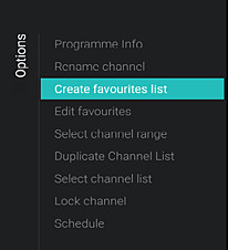 How to create a favourite list and reorder channels? | Philips