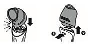 Jalkahöylän irrottaminen Philips Satinelle -epilaattorista