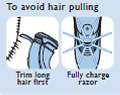 To avoid pulling hair