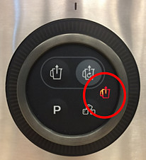 Red error icon — Philips vacuum blender