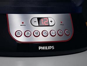 Пароварка Philips— запрограммированные кнопки обработки паром
