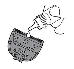 Lubricación de la afeitadora corporal Philips