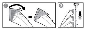 Prasowanie parowe z użyciem dyszy parowej z technologią FlexHead — Philips