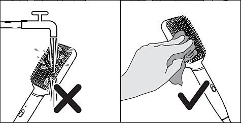 Limpieza del cepillo alisador con calor Philips