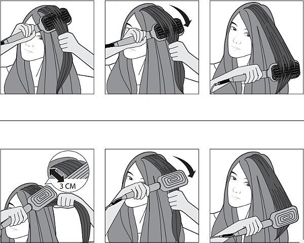 Instrucciones para utilizar el cepillo alisador Philips