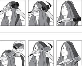 Korzystanie ze szczotki do prostowania włosów firmy Philips