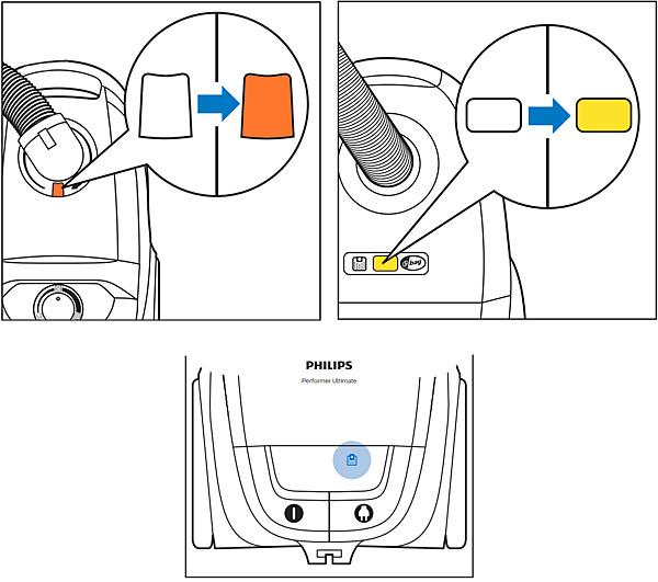 Full dust bag indicator in Philips Vacuum Cleaners