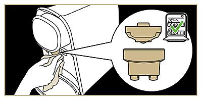 Instructions pour nettoyer la buse de distribution