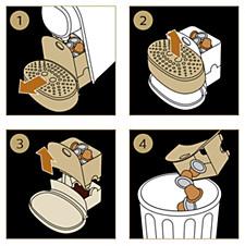 Vider le tiroir à capsules