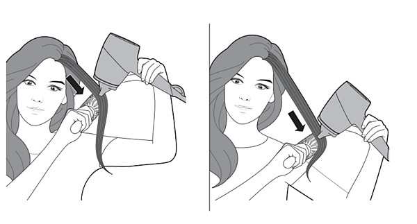 Correct positioning of Philips Hairdryer