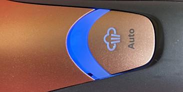ไฟสีน้ำเงินของเตารีดไอน้ำ Philips