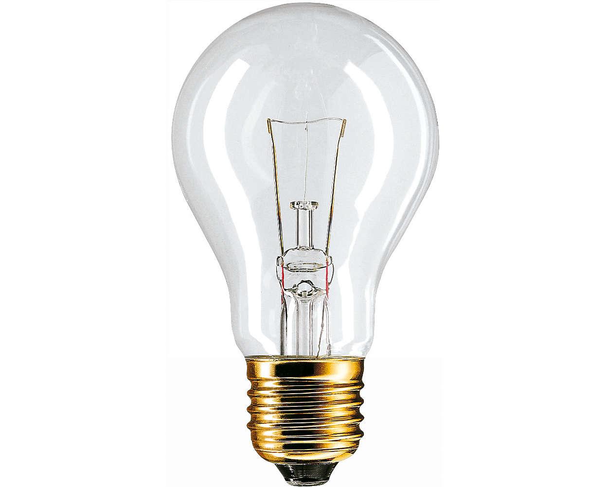 Glühlampe im klassischen Design