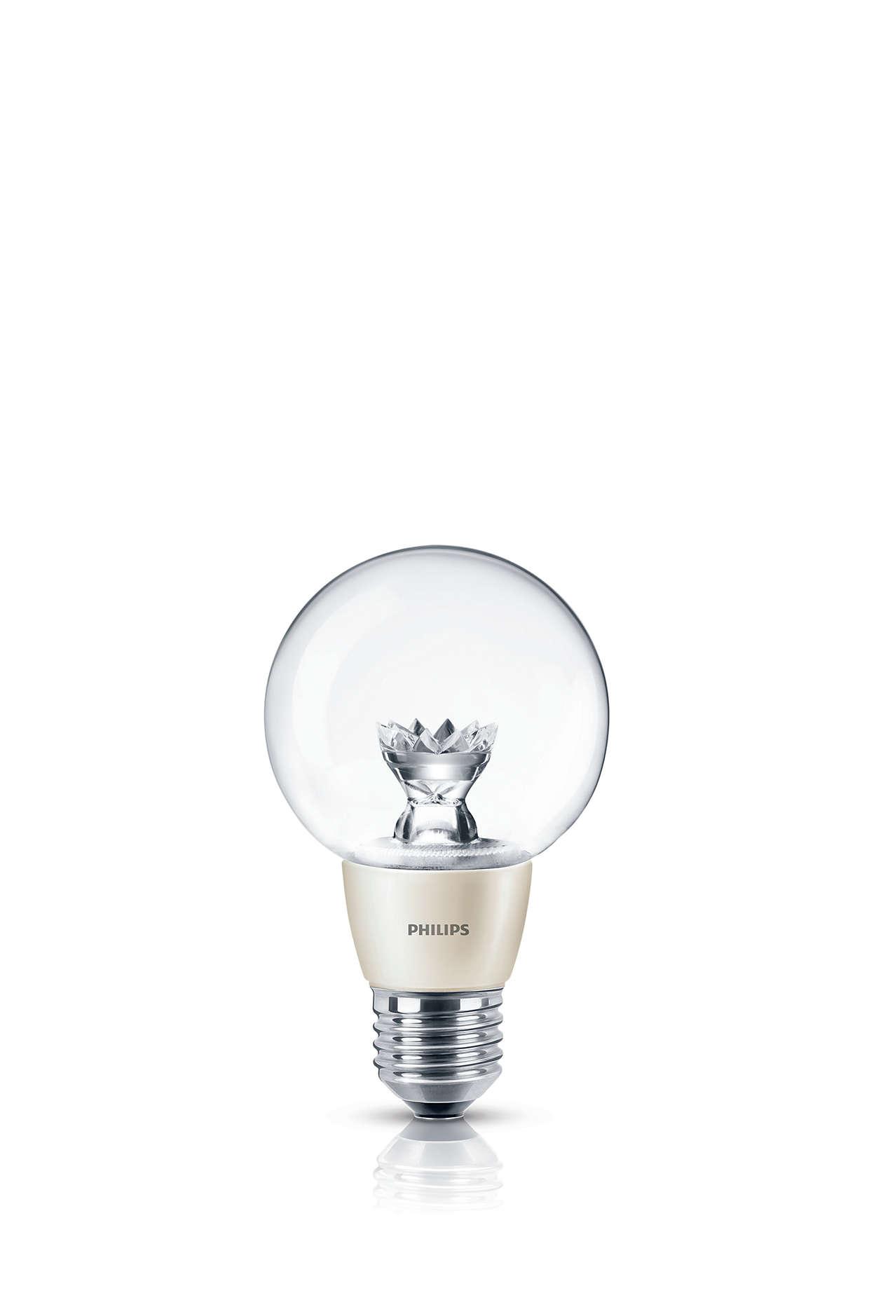 Decorative accent light with a brilliant sparkle