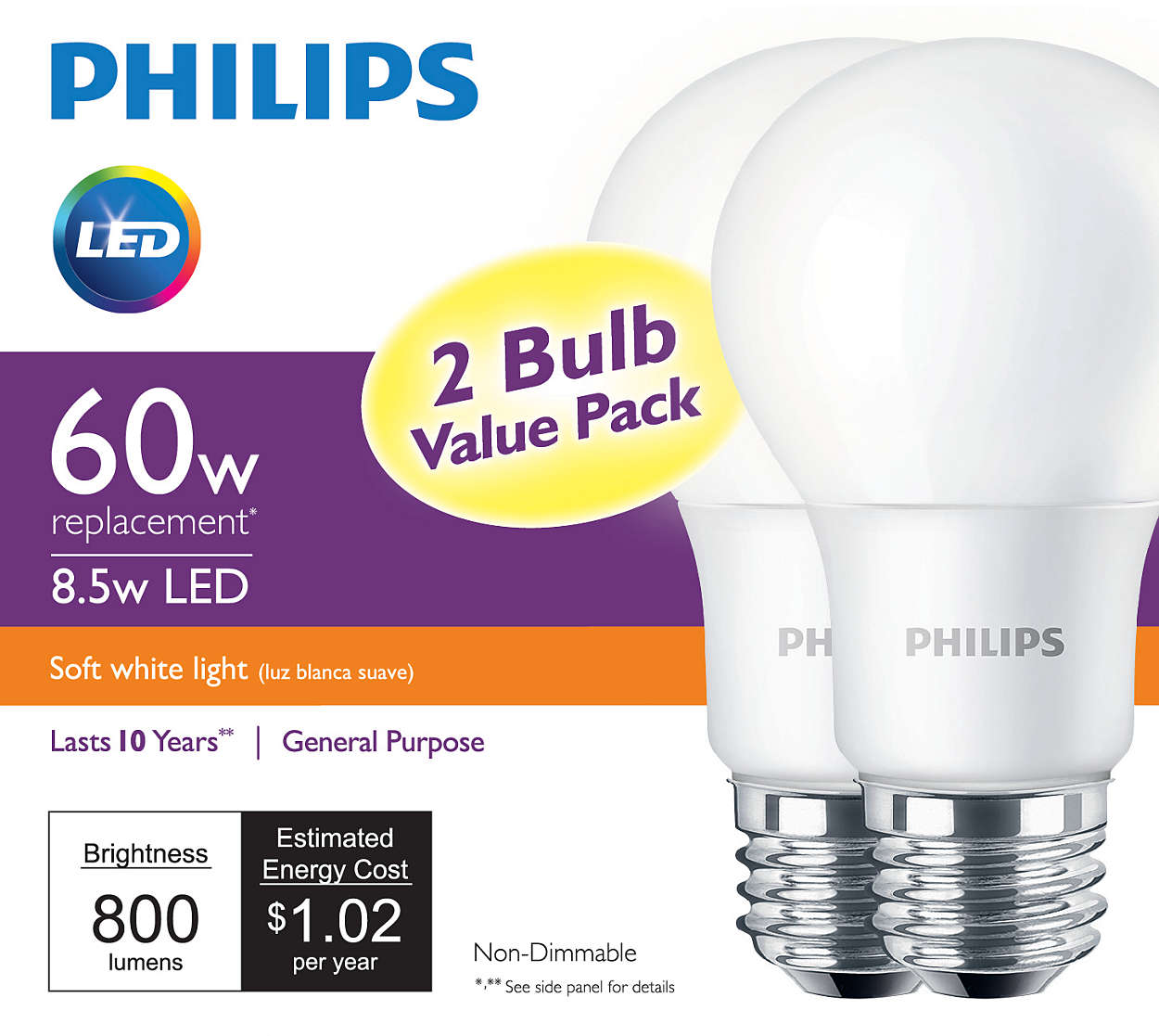 Led bulb 046677455507 philips simply beautiful affordable led light parisarafo Gallery