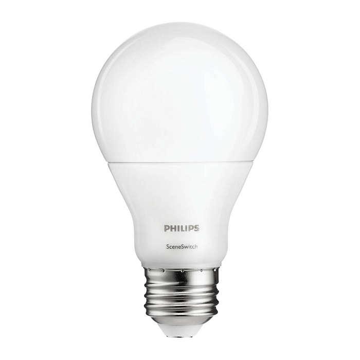 Una lampadina, 3 regolazioni di colore