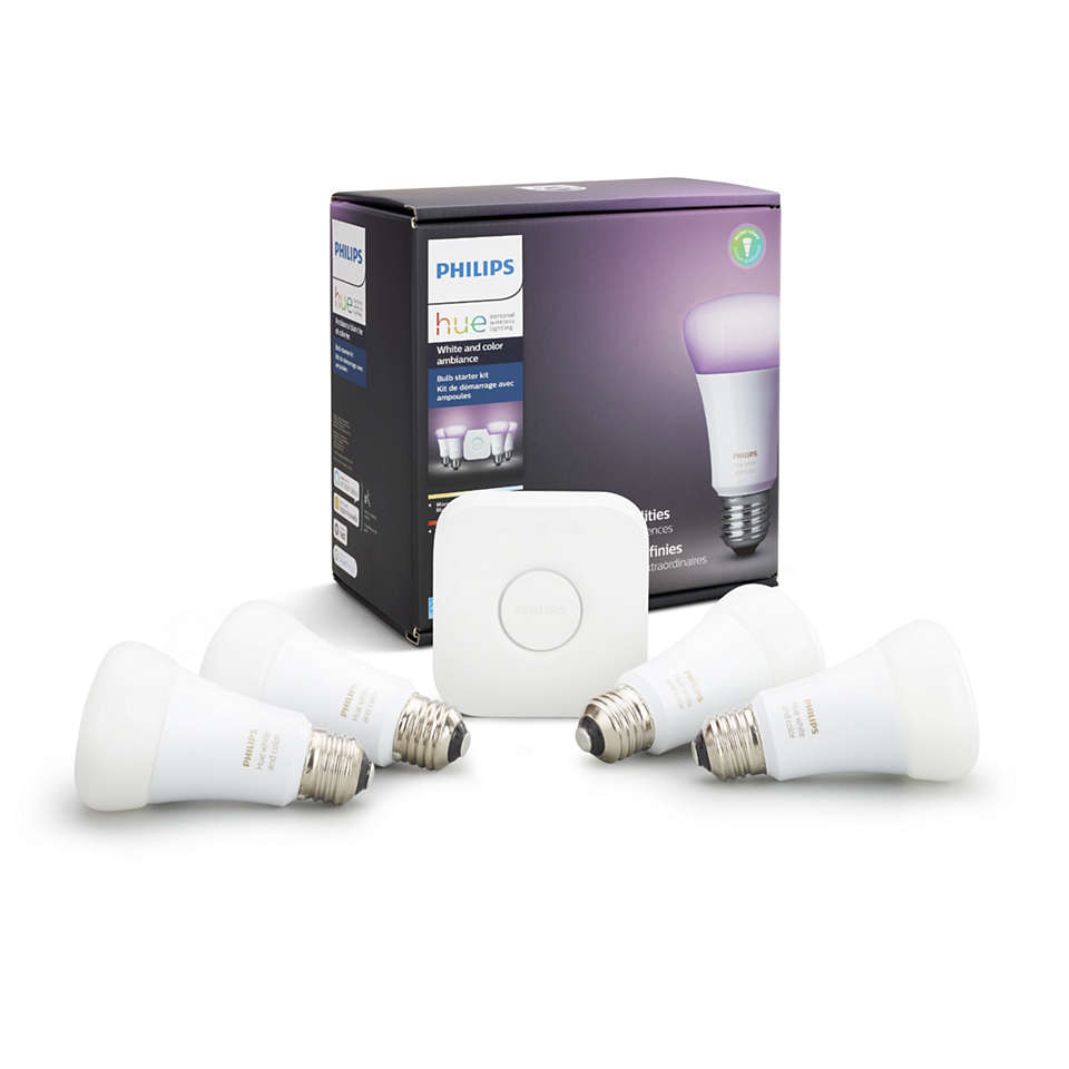 Hue White and color ambiance Kit de inicio E26