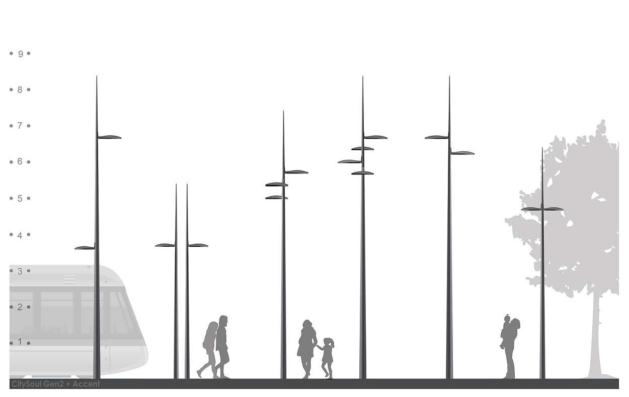 CitySoul poles and brackets