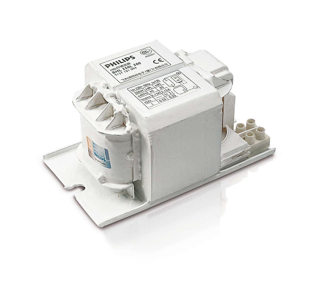 HPL 和 HPI(PLUS) 燈專用 HID-Basic 基本型安定器