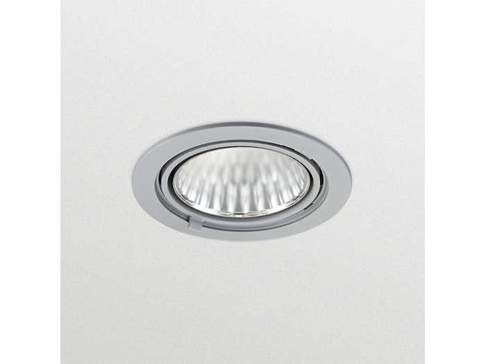 GreenSpace Accent (RS342B), herausschwenkbarer LED Einbaustrahler; im nicht herausgeschwenktem Zustand