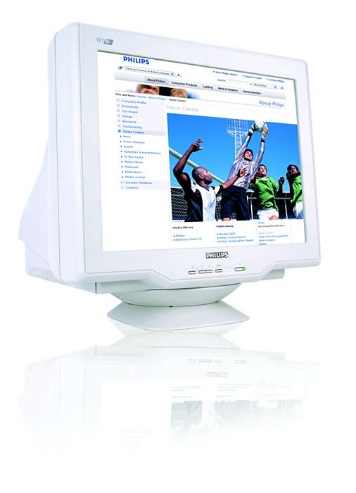 vysoce výkonná digitalizovaná obrazovka Real Flat CRT