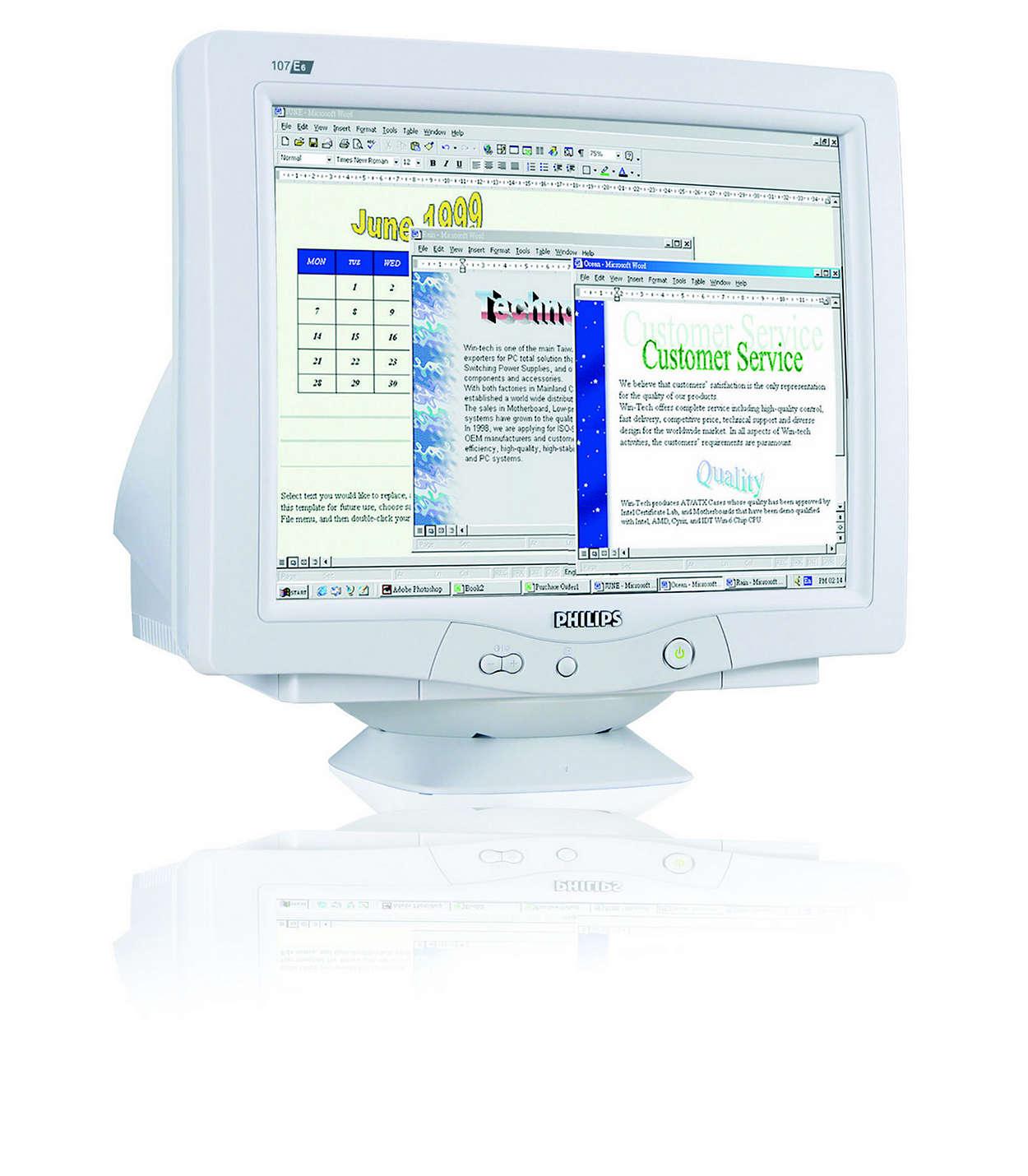 數位化 CRT、高質感無鉛設計