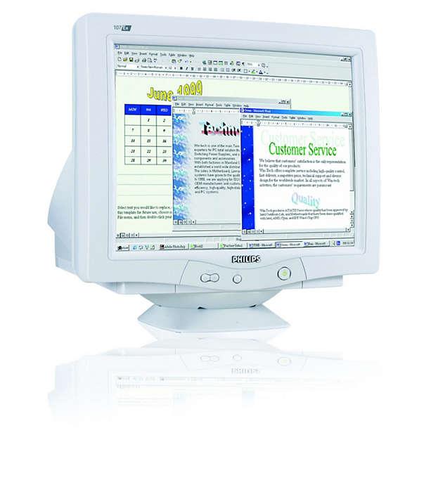 Digitale CRT-Technik, tolle Leistung und bleifreies Design