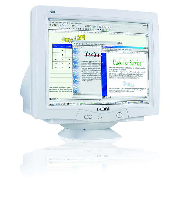 digitale CRT, loodvrij ontwerp