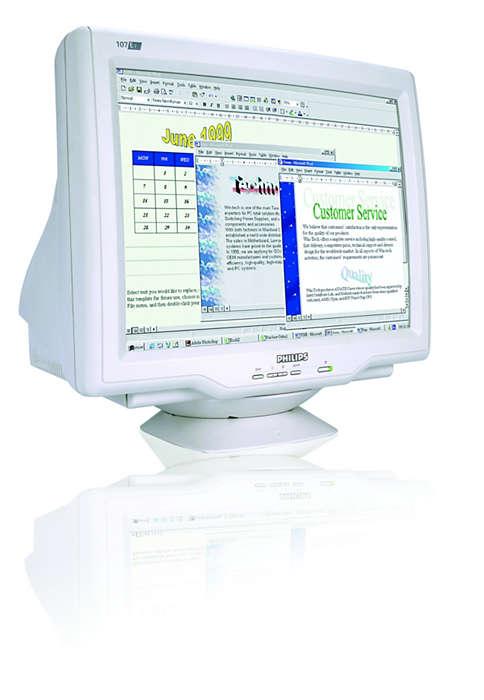 CRT digitalizado, tamanho e valor ideais do ecrã