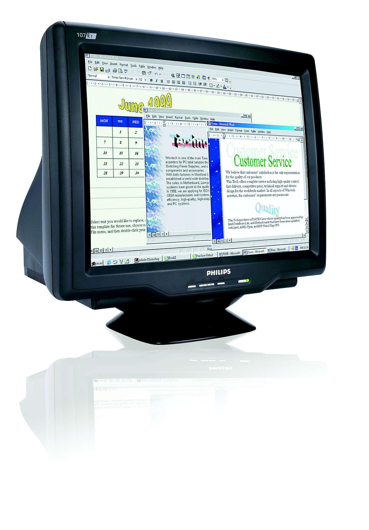digital CRT-skärm, idealisk skärmstorlek och prisvärd