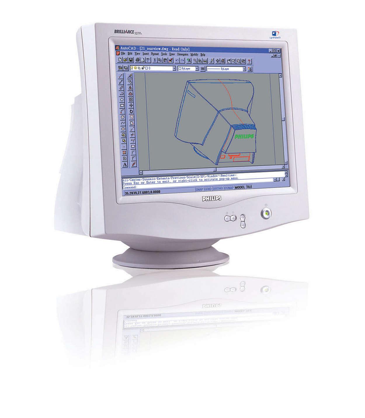 LightFrame™, design senza piombo e dimensioni ideali