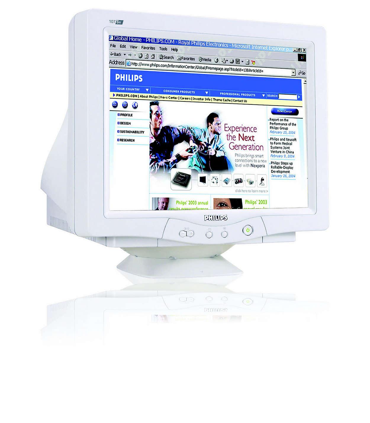 CRT digitalizado, design isento de chumbo e valioso