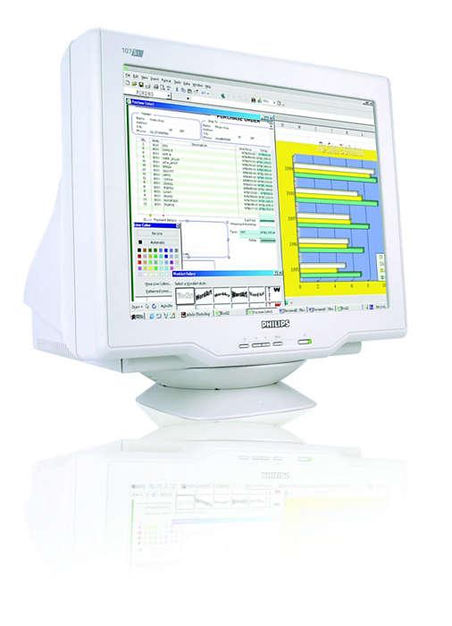 dijitalleştirilmiş Real-Flat CRT, kolay görüntüleme ve değer