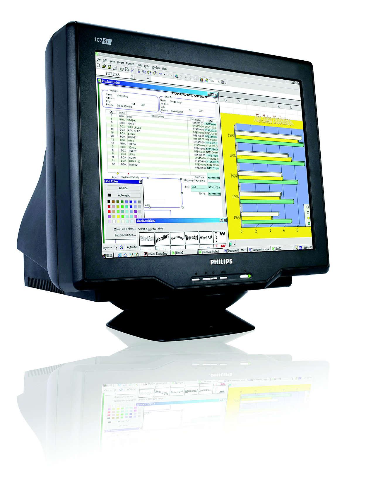 digitális Real-Flat CRT-képernyő, kényelmes és értékes