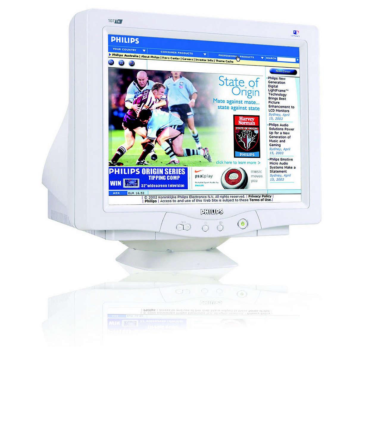 CRT digitalizzato, LightFrame™ e design senza piombo