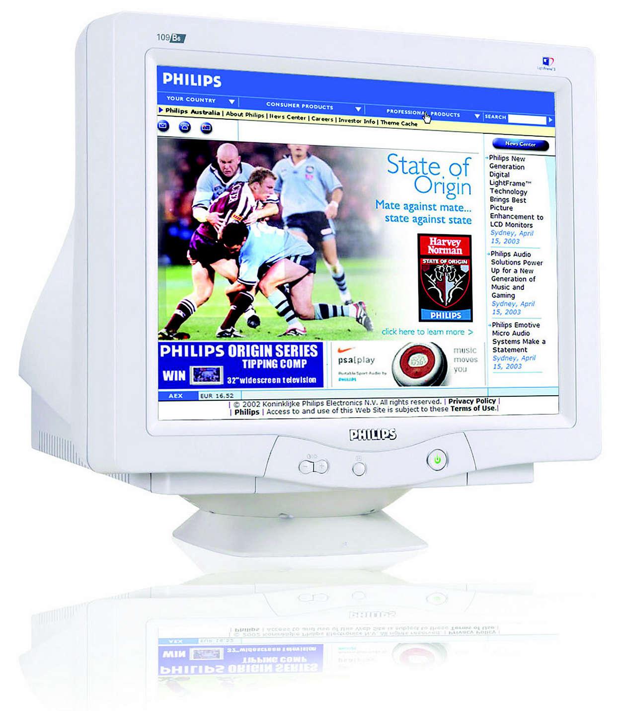 Superb computainment display, lead-free design