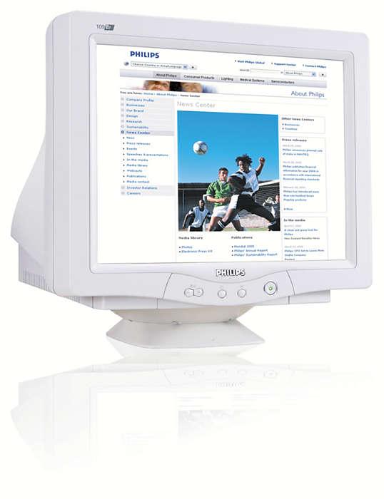 digitaliz. CRT obrazovka pre vynikajúcu zábavu pri práci na PC