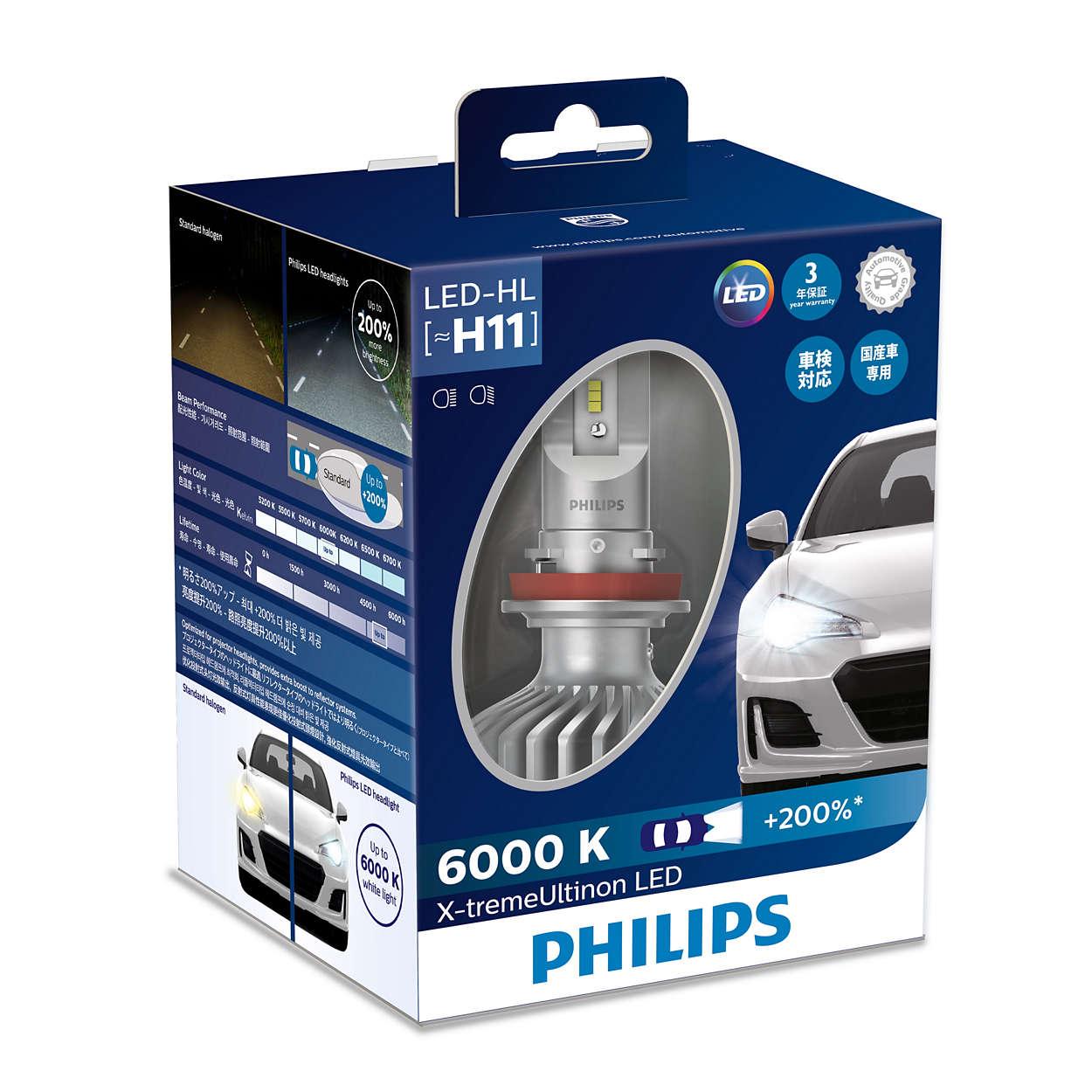 x tremeultinon led headlight bulb 11362xux2 philips. Black Bedroom Furniture Sets. Home Design Ideas