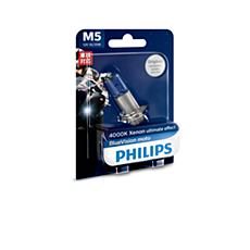 12154BVB1 BlueVision Moto Headlight bulb