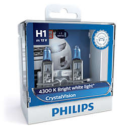 CrystalVision 銀戰士4,300K亮白光 時尚升級型車燈 H1