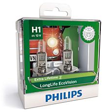 12258LLECOS2 LongLife EcoVision bola lampu depan mobil
