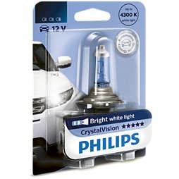 CrystalVision لمبة المصابيح الأمامية في السيارة