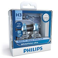 12336WVUSM WhiteVision ultra car headlight bulb