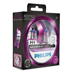 ColorVision Purple car headlight bulb