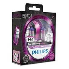12342CVPPS2 ColorVision Lâmpada roxa para faróis de automóveis