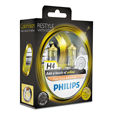 12342CVPYS2 ColorVision Yellow car headlight bulb